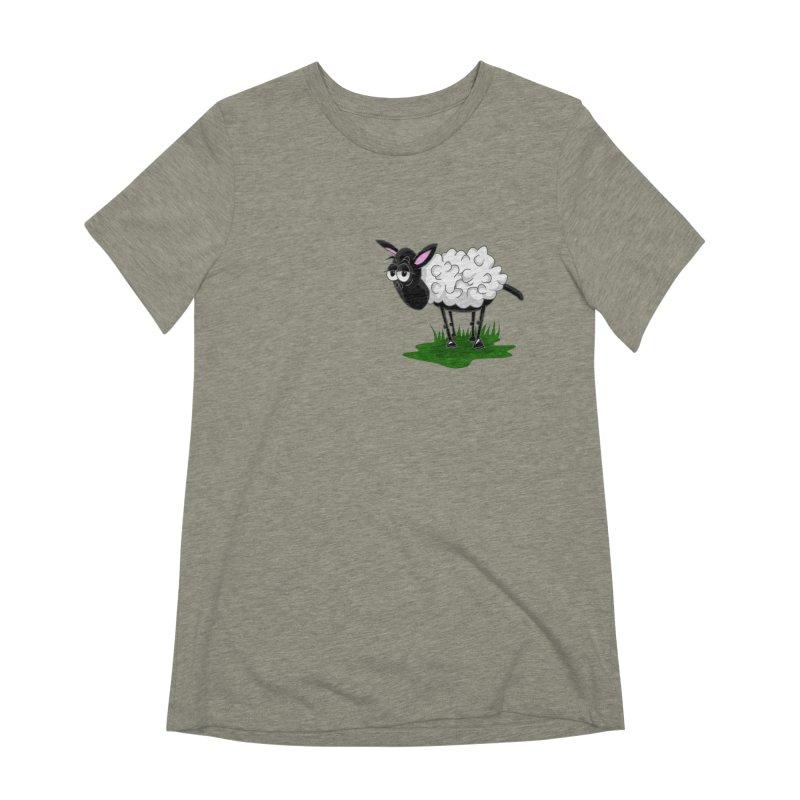 Shirby The Sheep Women's Extra Soft T-Shirt by Hadeda Creative's Artist Shop