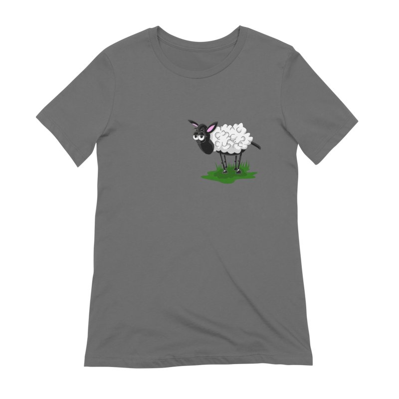 Shirby The Sheep Women's Extra Soft T-Shirt by Hadeda Creative's Artist Shop