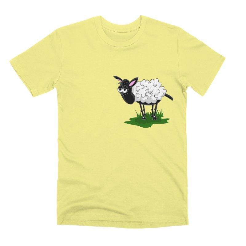 Shirby The Sheep Men's Premium T-Shirt by Hadeda Creative's Artist Shop