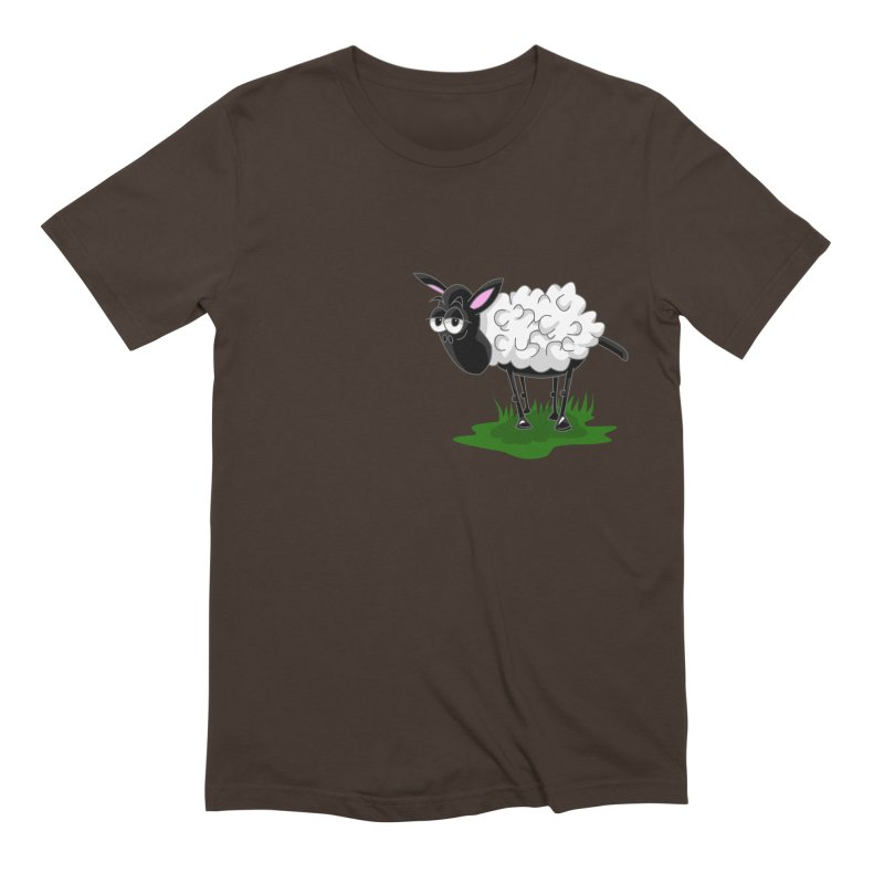 Shirby The Sheep Men's Extra Soft T-Shirt by Hadeda Creative's Artist Shop