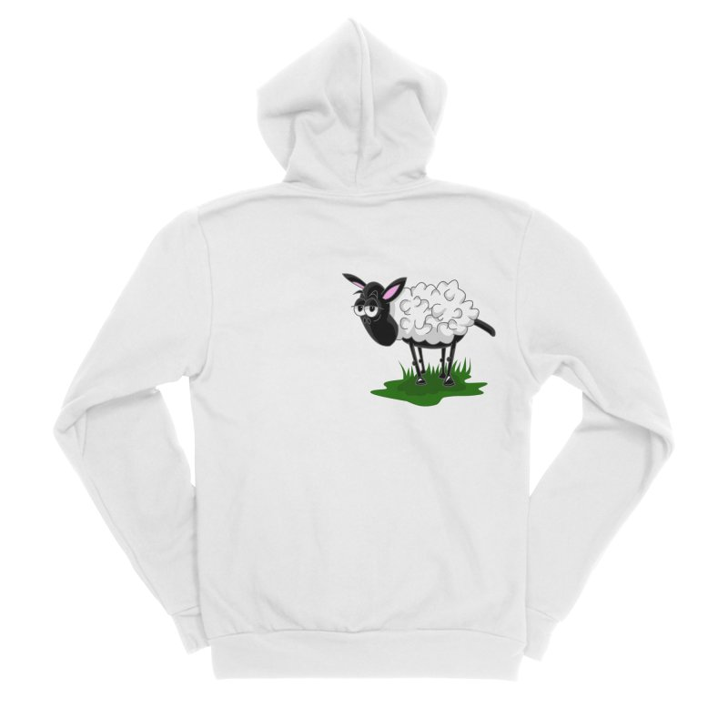 Shirby The Sheep Men's Sponge Fleece Zip-Up Hoody by Hadeda Creative's Artist Shop