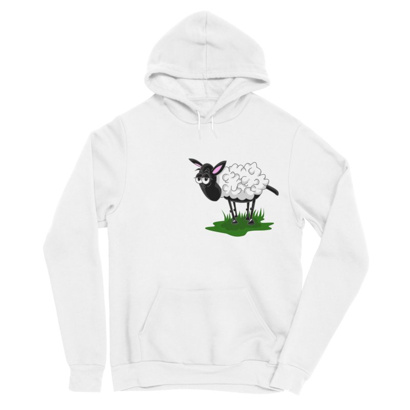 Shirby The Sheep Men's Sponge Fleece Pullover Hoody by Hadeda Creative's Artist Shop