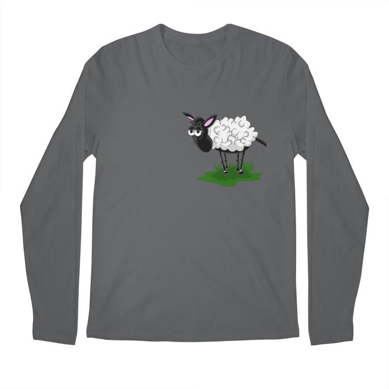 Shirby The Sheep Men's Longsleeve T-Shirt by Hadeda Creative's Artist Shop