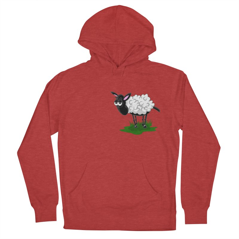 Shirby The Sheep Men's French Terry Pullover Hoody by Hadeda Creative's Artist Shop