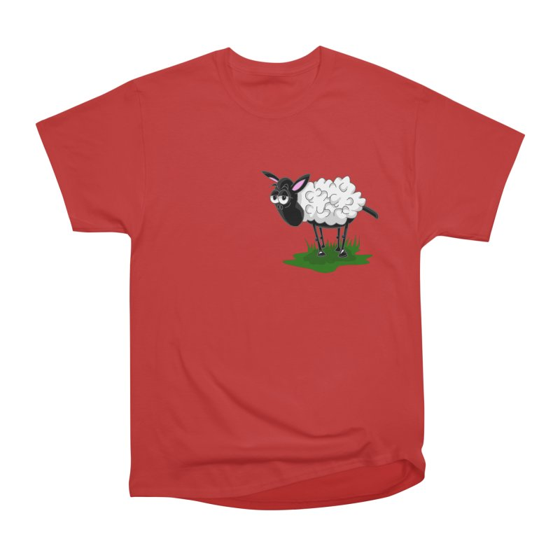 Shirby The Sheep Women's Heavyweight Unisex T-Shirt by Hadeda Creative's Artist Shop