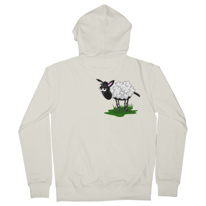 Shirby The Sheep Women's French Terry Zip-Up Hoody by Hadeda Creative's Artist Shop