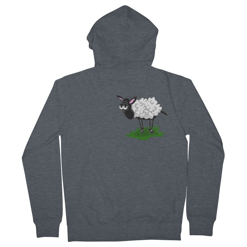 Shirby The Sheep Men's French Terry Zip-Up Hoody by Hadeda Creative's Artist Shop