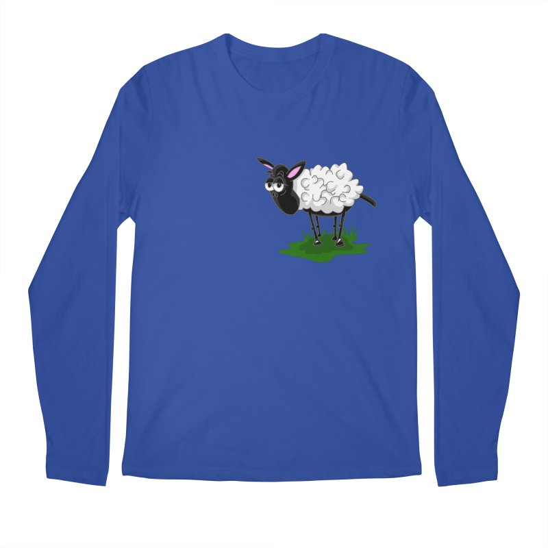 Shirby The Sheep Men's Regular Longsleeve T-Shirt by Hadeda Creative's Artist Shop