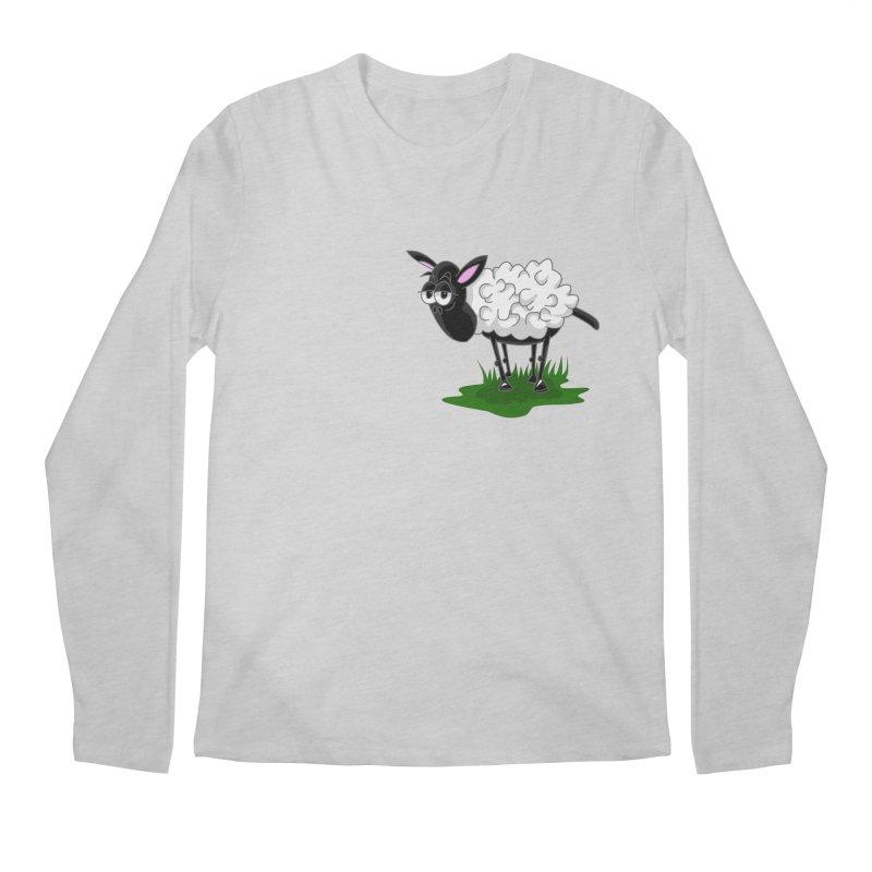 Shirby The Sheep Men's Regular Longsleeve T-Shirt by Hadeda Creative's Artist Shop