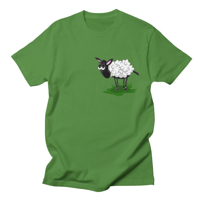 Shirby The Sheep Women's Regular Unisex T-Shirt by Hadeda Creative's Artist Shop
