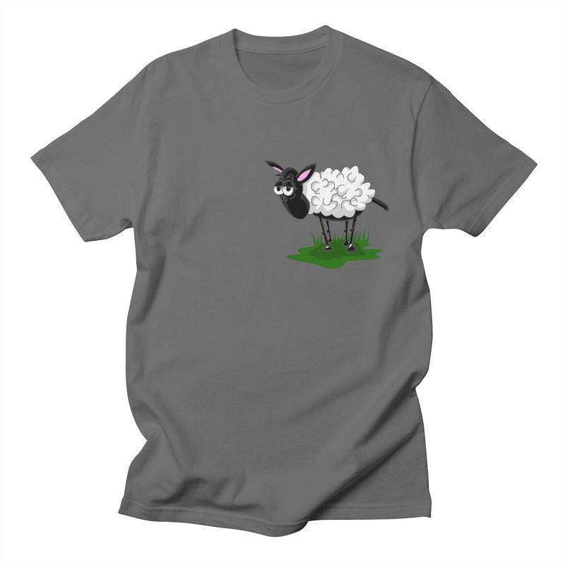 Shirby The Sheep Men's T-Shirt by Hadeda Creative's Artist Shop