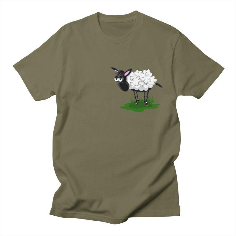 Shirby The Sheep Women's Regular Unisex T-Shirt by Hadeda Creative's Artist Shop