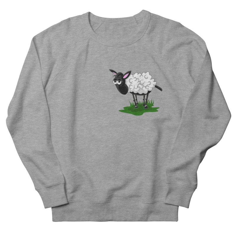 Shirby The Sheep Women's French Terry Sweatshirt by Hadeda Creative's Artist Shop