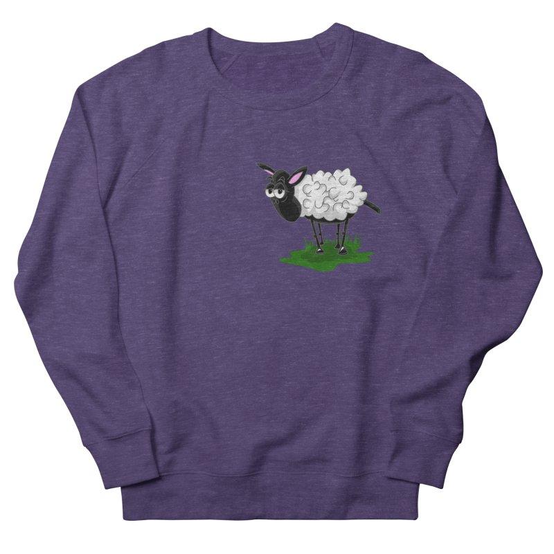 Shirby The Sheep Men's French Terry Sweatshirt by Hadeda Creative's Artist Shop