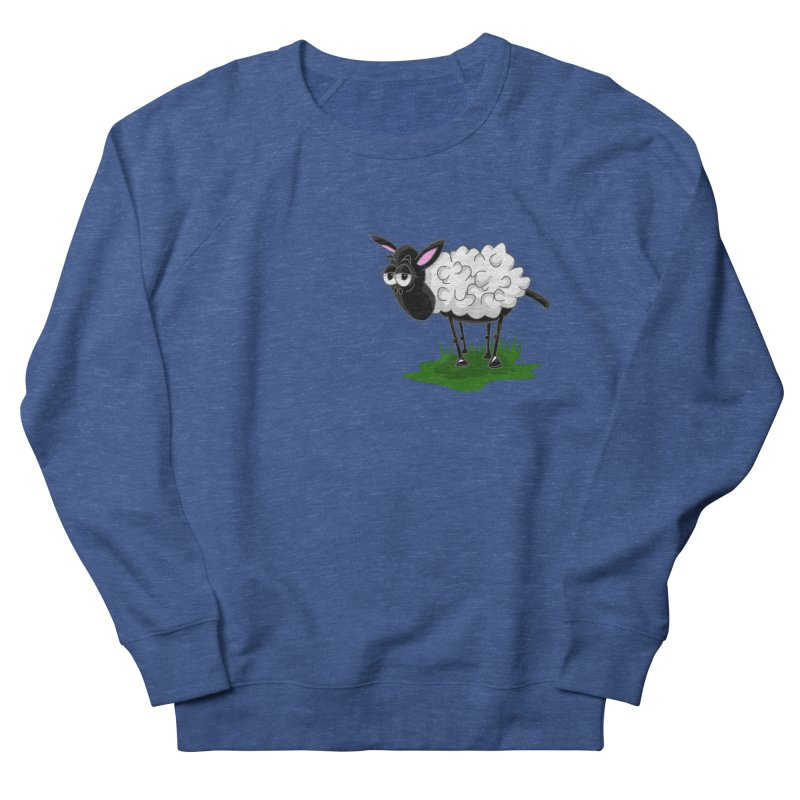 Shirby The Sheep Men's French Terry Sweatshirt by Hadeda Creative's Artist Shop