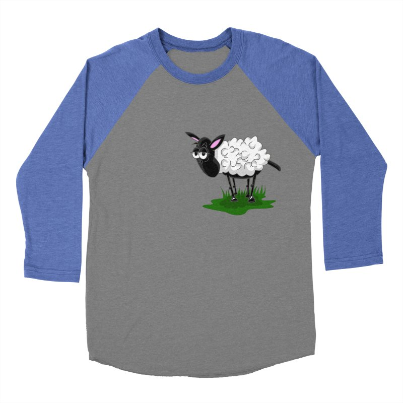 Shirby The Sheep Women's Baseball Triblend Longsleeve T-Shirt by Hadeda Creative's Artist Shop