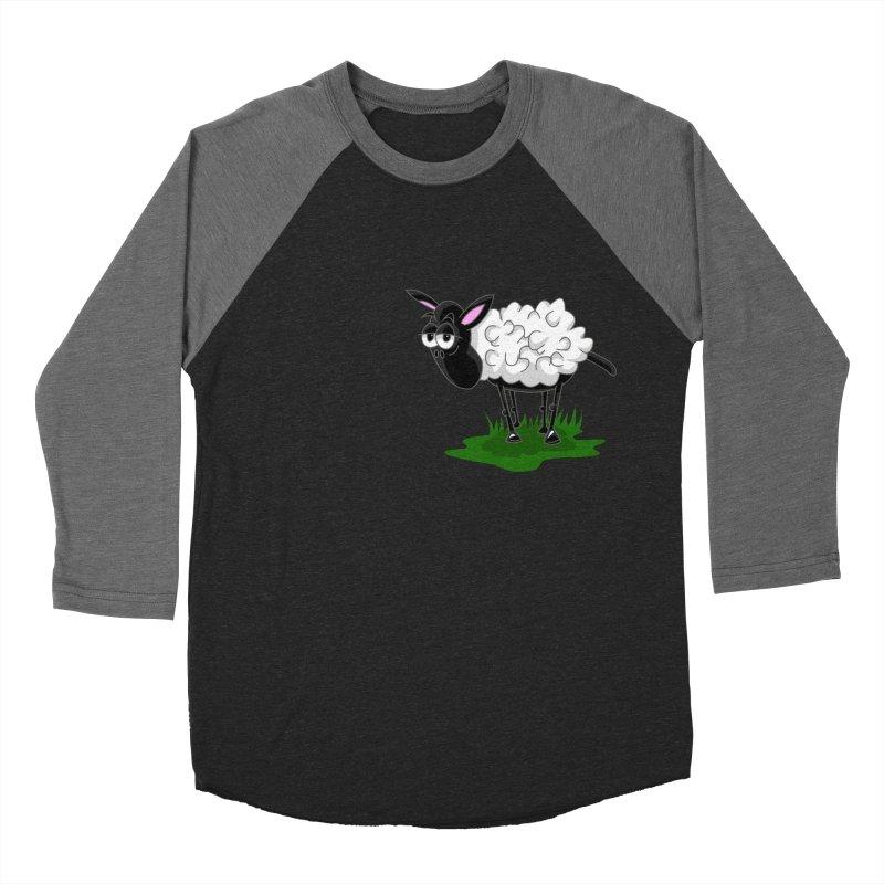 Shirby The Sheep Women's Baseball Triblend Longsleeve T-Shirt by Hadeda Creative's Artist Shop