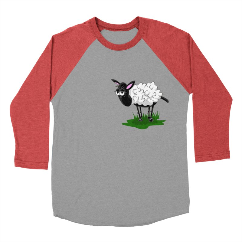 Shirby The Sheep Men's Baseball Triblend Longsleeve T-Shirt by Hadeda Creative's Artist Shop