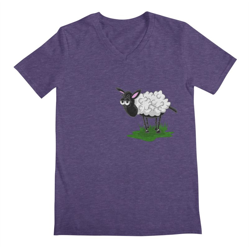 Shirby The Sheep Men's Regular V-Neck by Hadeda Creative's Artist Shop