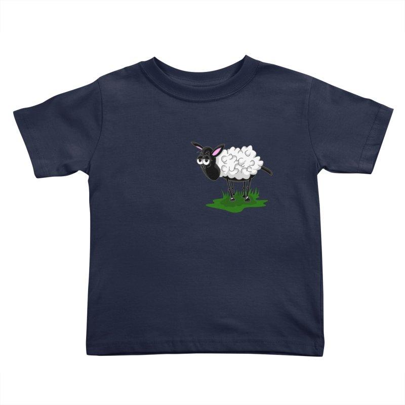 Shirby The Sheep Kids Toddler T-Shirt by Hadeda Creative's Artist Shop