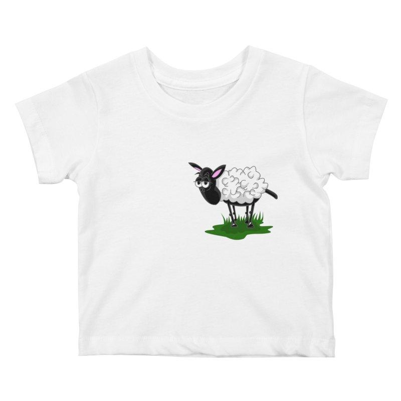 Shirby The Sheep Kids Baby T-Shirt by Hadeda Creative's Artist Shop
