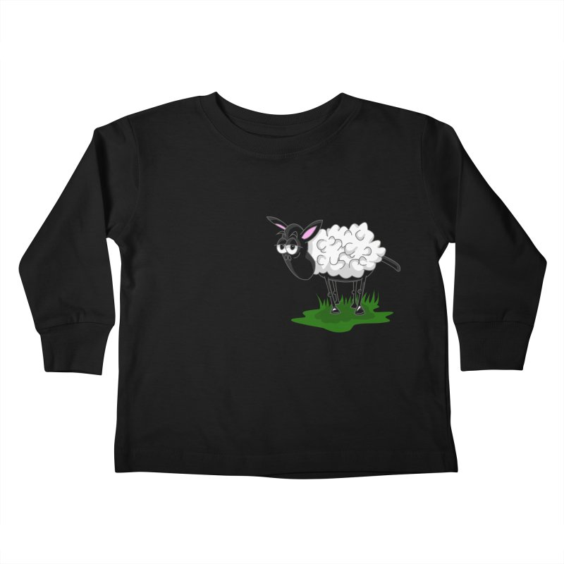 Shirby The Sheep Kids Toddler Longsleeve T-Shirt by Hadeda Creative's Artist Shop