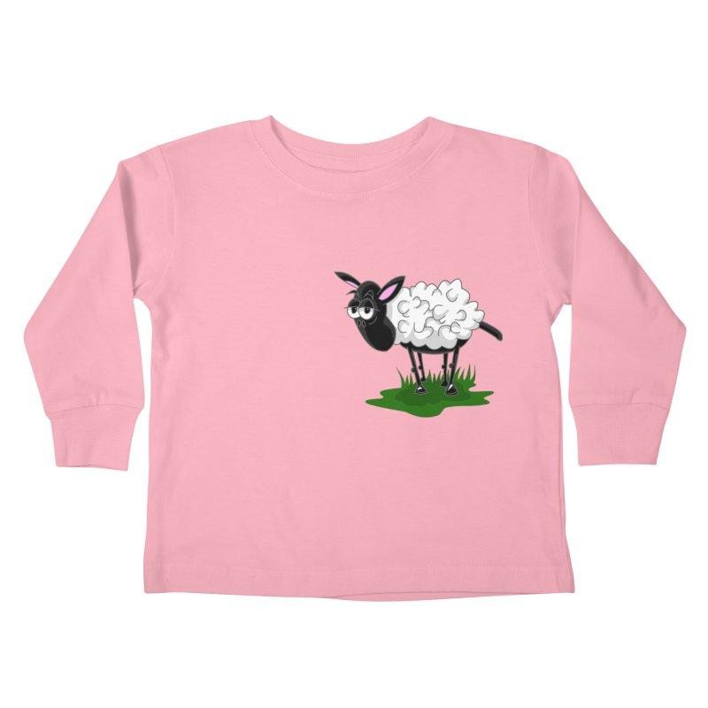 Shirby The Sheep Kids Toddler Longsleeve T-Shirt by Hadeda Creative's Artist Shop