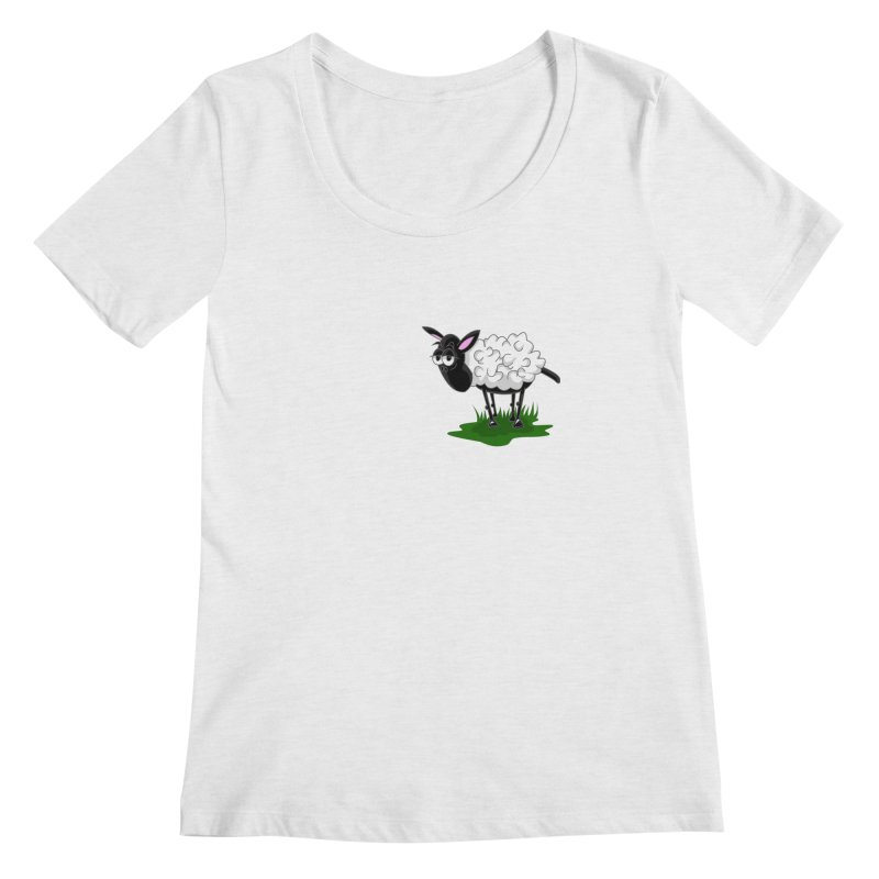Shirby The Sheep Women's Regular Scoop Neck by Hadeda Creative's Artist Shop