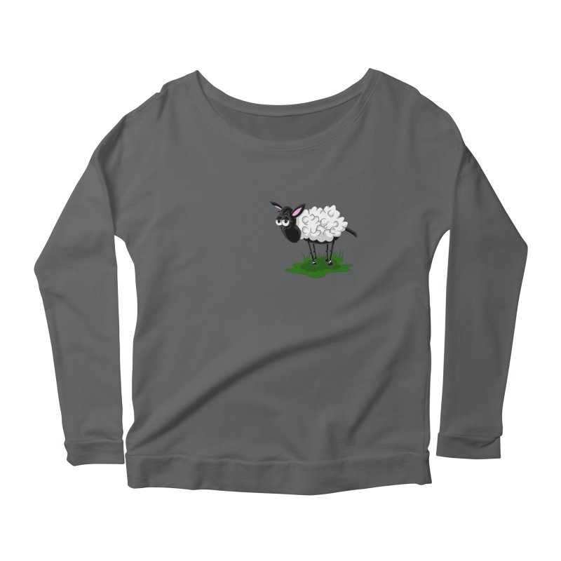 Shirby The Sheep Women's Scoop Neck Longsleeve T-Shirt by Hadeda Creative's Artist Shop