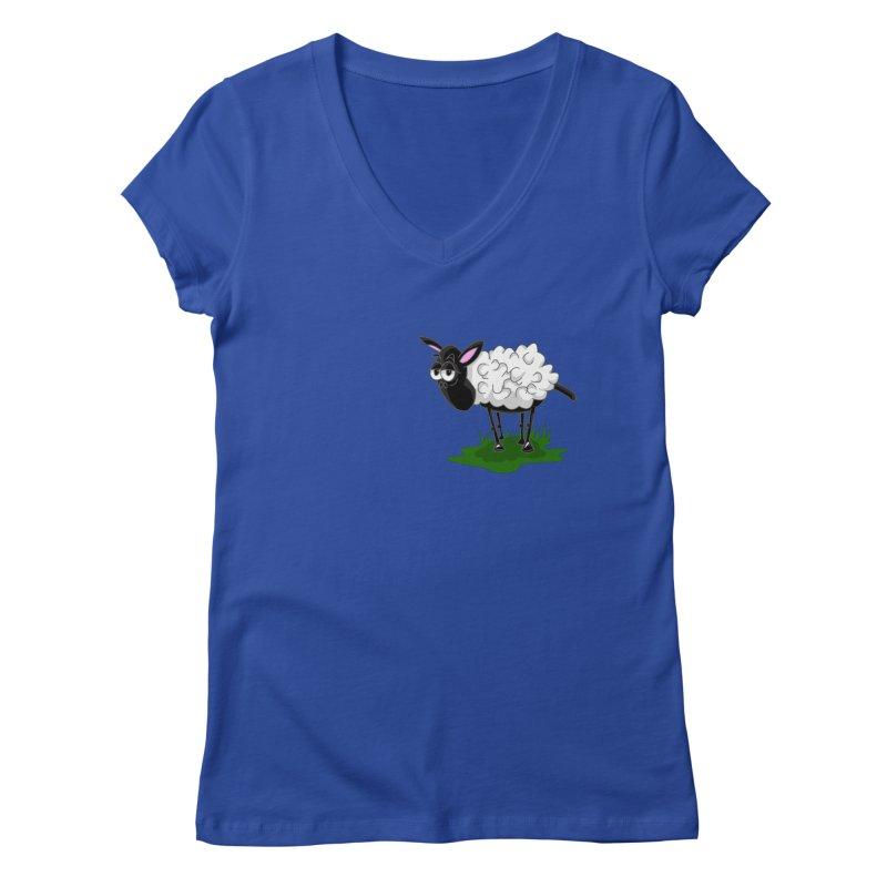 Shirby The Sheep Women's Regular V-Neck by Hadeda Creative's Artist Shop
