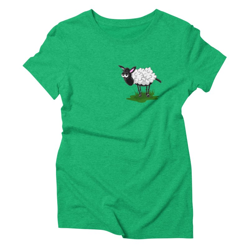 Shirby The Sheep Women's Triblend T-Shirt by Hadeda Creative's Artist Shop