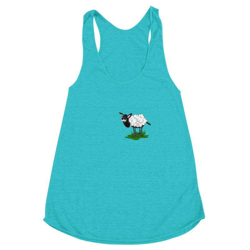 Shirby The Sheep Women's Racerback Triblend Tank by Hadeda Creative's Artist Shop
