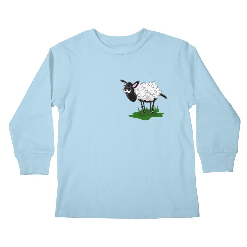 Shirby The Sheep Kids Longsleeve T-Shirt by Hadeda Creative's Artist Shop