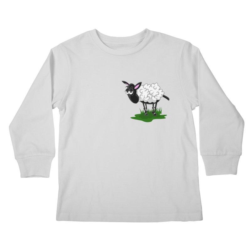 Shirby The Sheep Kids Longsleeve T-Shirt by Hadeda Creative's Artist Shop