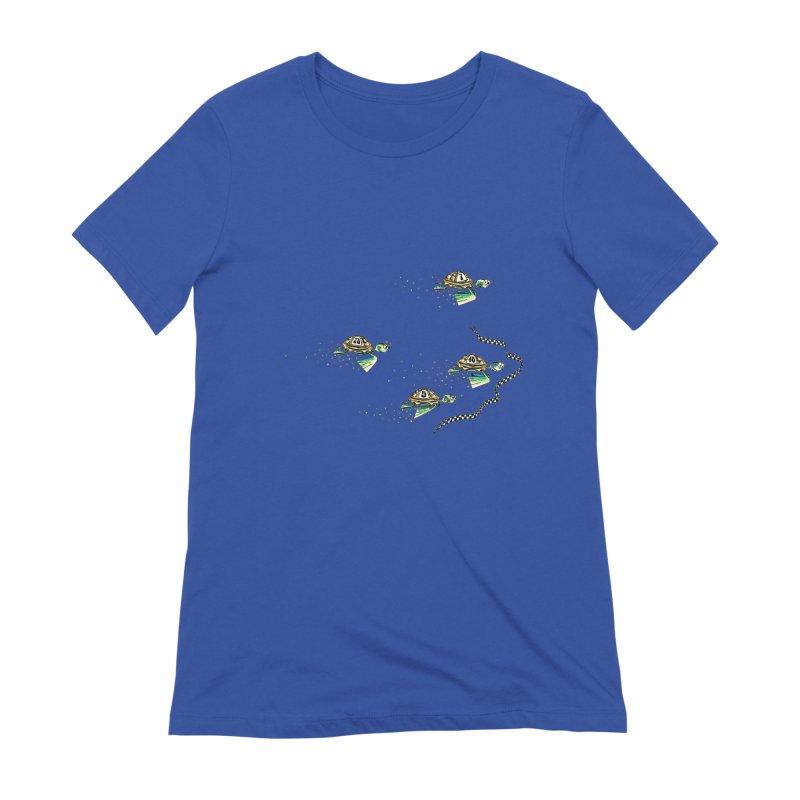 Turtle Rally Women's Extra Soft T-Shirt by Hadeda Creative's Artist Shop