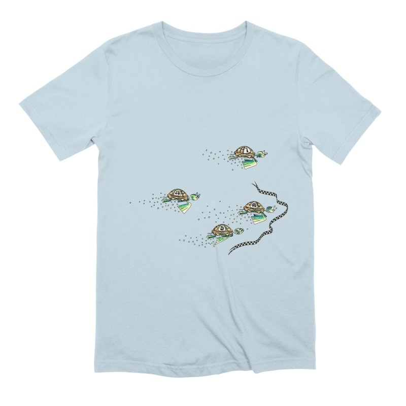 Turtle Rally Men's Extra Soft T-Shirt by Hadeda Creative's Artist Shop