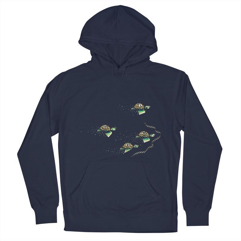 Turtle Rally Women's French Terry Pullover Hoody by Hadeda Creative's Artist Shop