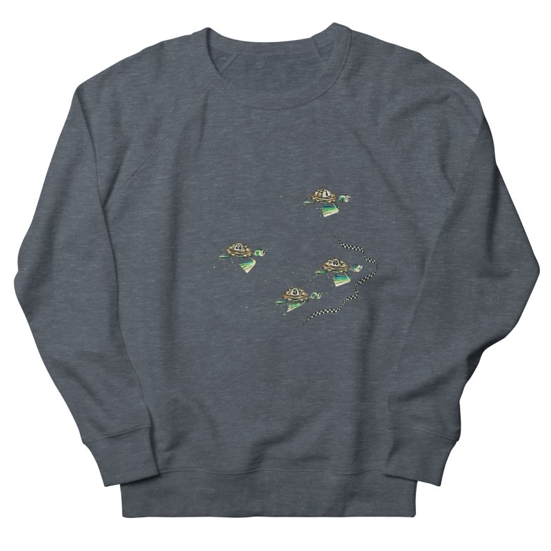 Turtle Rally Women's French Terry Sweatshirt by Hadeda Creative's Artist Shop