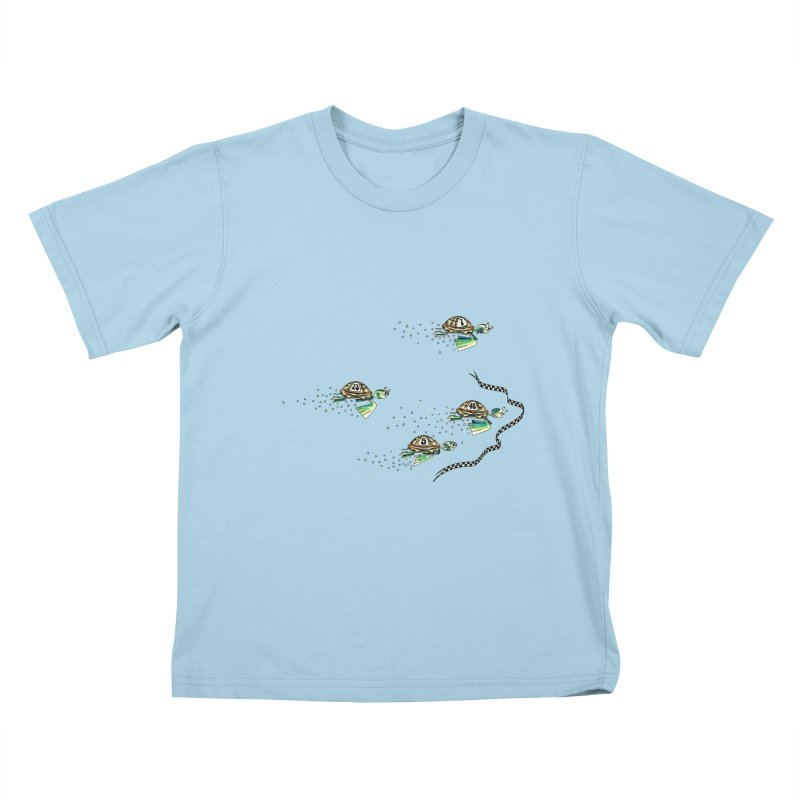 Turtle Rally Kids T-Shirt by Hadeda Creative's Artist Shop