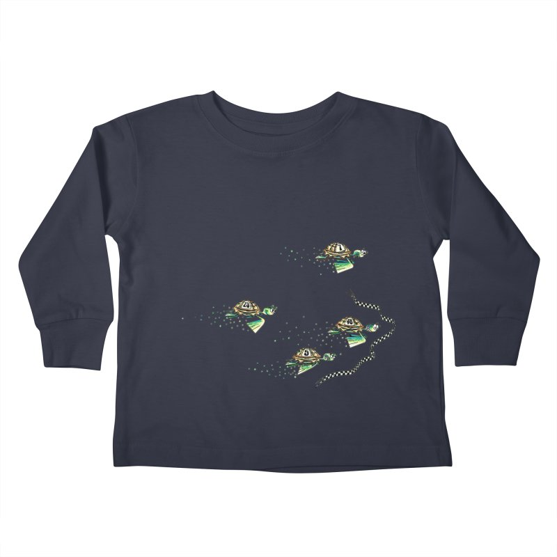 Turtle Rally Kids Toddler Longsleeve T-Shirt by Hadeda Creative's Artist Shop