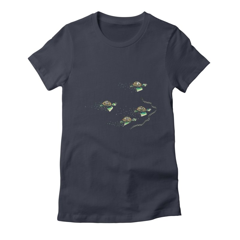 Turtle Rally Women's Fitted T-Shirt by Hadeda Creative's Artist Shop