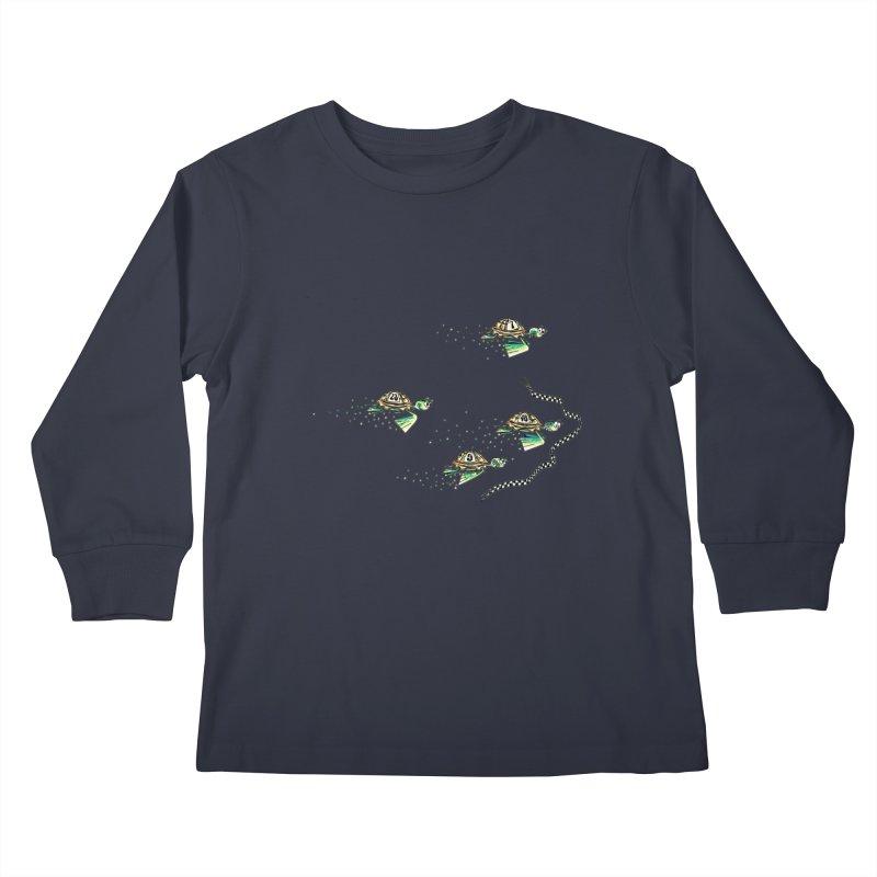 Turtle Rally Kids Longsleeve T-Shirt by Hadeda Creative's Artist Shop