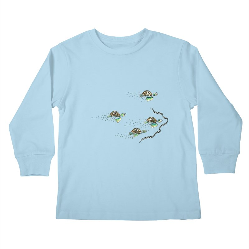 Turtle Rally Kids Longsleeve T-Shirt by Hadeda Creative's Artist Shop