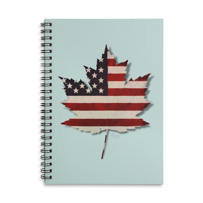 USA Maple Accessories Lined Spiral Notebook by Hadeda Creative's Artist Shop