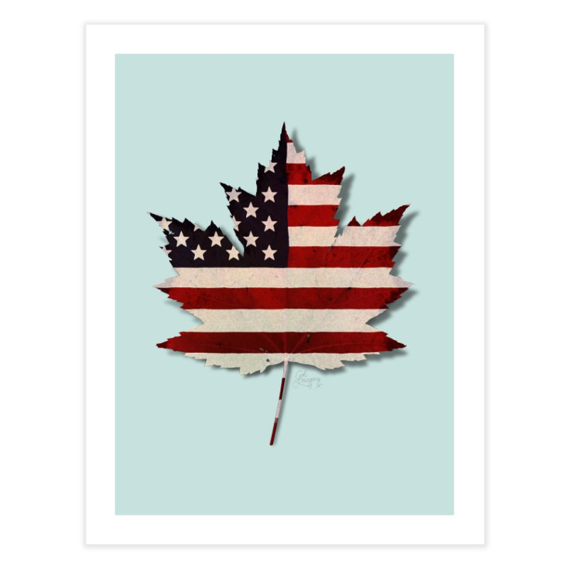 USA Maple Home Fine Art Print by Hadeda Creative's Artist Shop