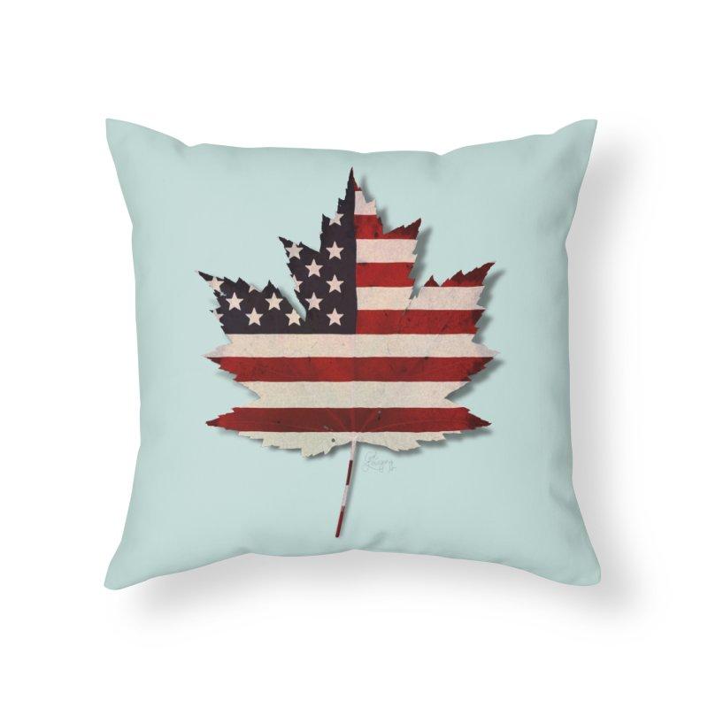 USA Maple Home Throw Pillow by Hadeda Creative's Artist Shop