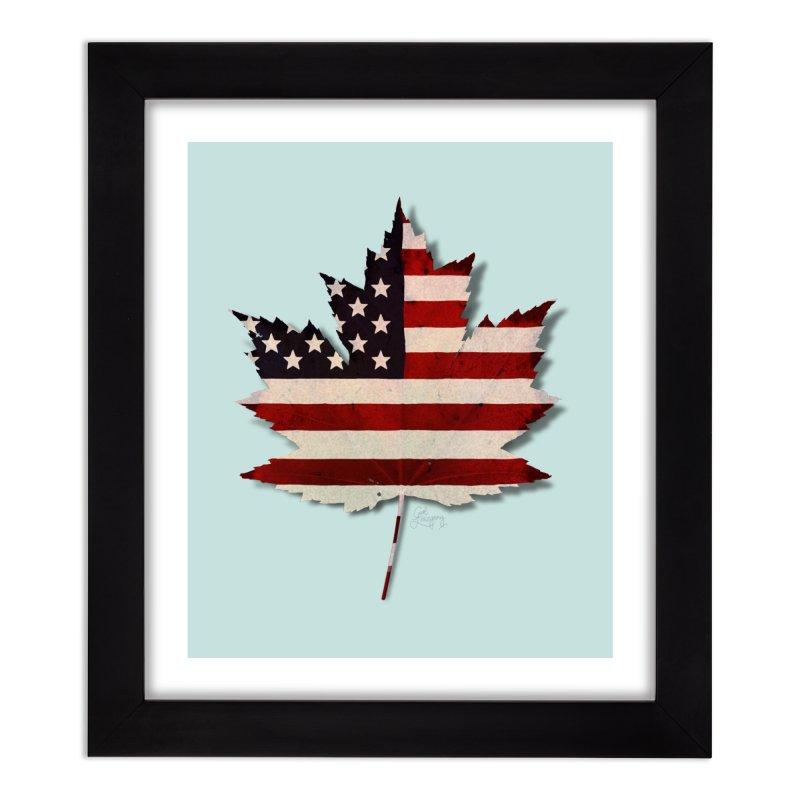 USA Maple Home Framed Fine Art Print by Hadeda Creative's Artist Shop