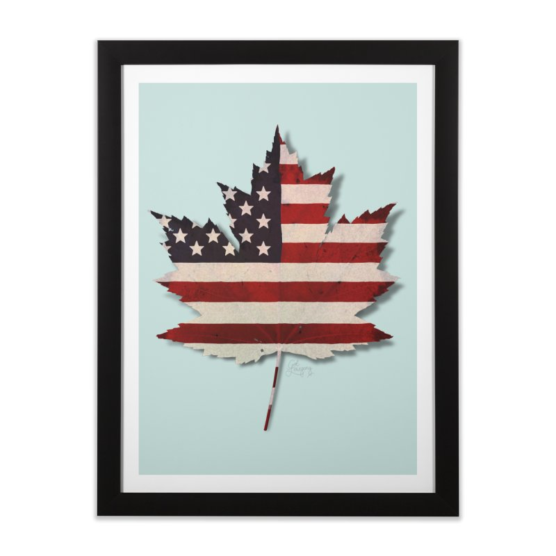 USA Maple Home Framed Fine Art Print by Hadeda Creative's Artist Shop