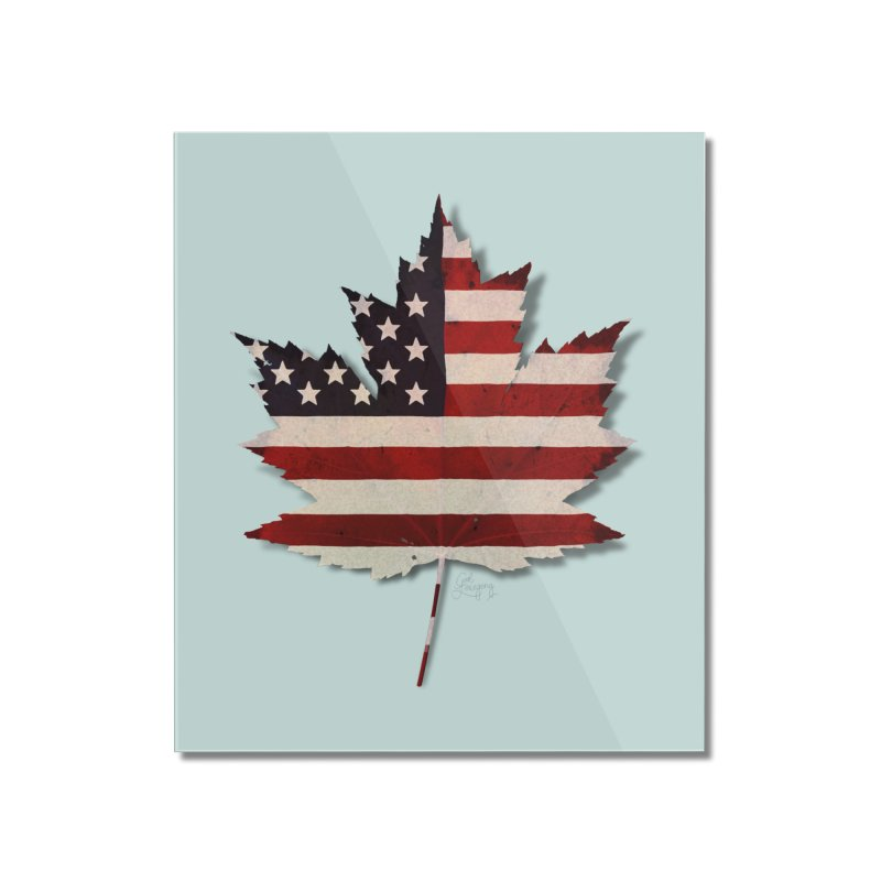 USA Maple Home Mounted Acrylic Print by Hadeda Creative's Artist Shop