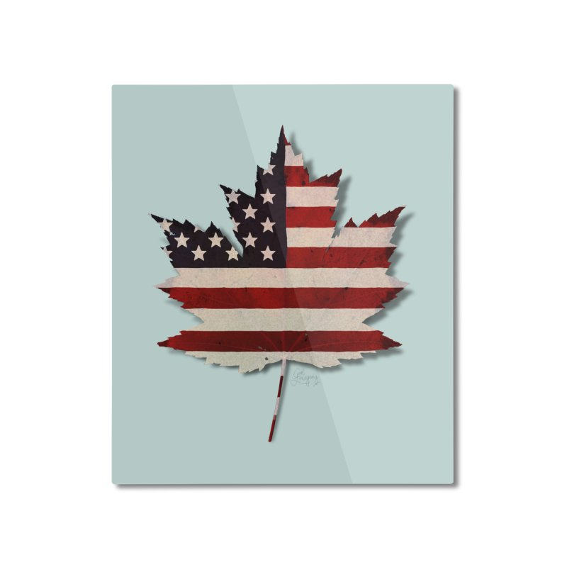 USA Maple Home Mounted Aluminum Print by Hadeda Creative's Artist Shop
